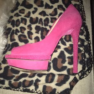 Pink Brian Atwood Heels